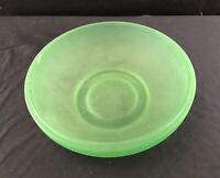 Lime Green Custard Glass Decorative Bowl Vintage