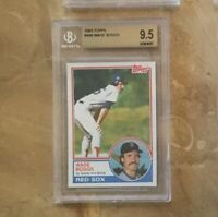 1983 TOPPS BGS 9.5 WADE BOGGS GEM MINT ROOKIE CARD PSA 10