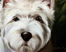 Mary Sparrow west highland terrier dogs westie dog face art PRINT