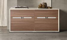 Kommode Schlafzimmer Highboard Nussbaum Beige 6xSchubladen Italienische Möbel