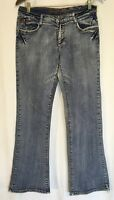 Apollo Jeans Womens Size 7/8 Embroidered Bootcut Medium Wash