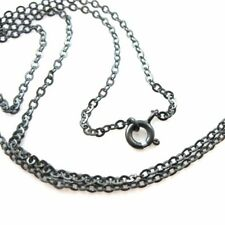 """Oxidized Sterling Silver Necklace-2.3 mm Strong Flat Cable (16""""-36"""")"""