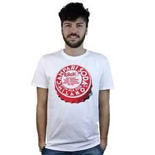 T-Shirt Campari, maglietta con disegno tappo, per barman e amanti dell'aperitivo