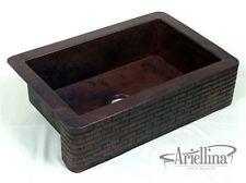 "36"" Ariellina Farmhouse 14 Gauge Copper Kitchen Sink Lifetime Warranty AC1904"