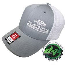 Ford Powerstroke trucker hat richardson Gray Denim White mesh flex fit lg/xl