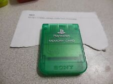 PlayStation Psone Memory Card Emerald Green SCPH-1020 For PlayStation 1 PS1 1E