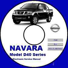 NISSAN NAVARA D40 SERIES 2005 2006 2007 2008 2009 AUSTRALIAN SERIES WORKSHOP CD
