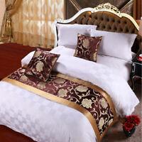 Hotel Bed Runner Scarf Dining Table Runner Wedding Bedroom Bedding Decor Gold