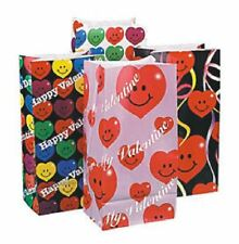 Pack of 12 Smile Face Heart Paper Bags T11 Favor Treat Bags Valentine