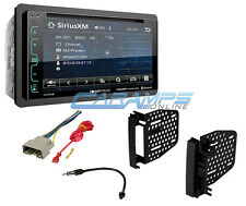 BLUETOOTH GLASS PANEL TOUCHSCREEN DOUBLE 2 DIN CAR STEREO XM RADIO W INSTALL KIT
