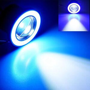 2X 2.5inch Round Cool Blue Angel Eye Halo LED Projector Fog Light ATV Truck