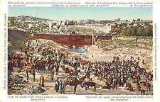 Jerusalem Israel Sultans Pond Cattle Fair Antique Postcard J46697
