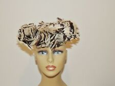 1940's Ww2 Era Julius Garfinckel Brown Wool / Feather Tilt Hat