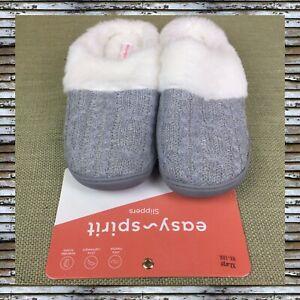 Women's Easy Spirit Slippers Gray ClosedToes Slip On Size XL 9 1/2-10 1/2 M NWOB
