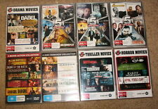 40 new release action, drama, horror, thriller, romance Movies - DVD R4 VGC