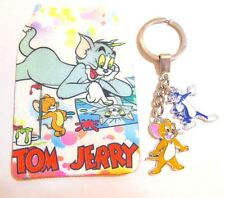 Tom & Jerry Cat & Mouse Novelty Key Ring with soft mobile phone pouch