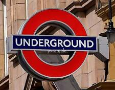 England - LONDON UNDERGROUND - Travel Souvenir Flexible Fridge Magnet