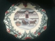 Longaberger Hometown Christmas Ornament 1999 Riding Through The Snow Coll. Club