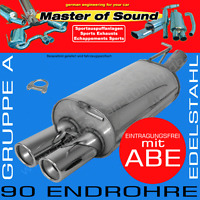 MASTER OF SOUND EDELSTAHL AUSPUFF VW POLO 2/3 COUPE+STEILHECK+G40 2F/86C