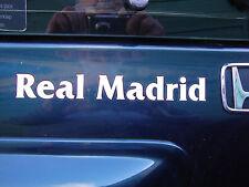 "2 x REAL MADRID  8""   CAR WINDOW STICKERS MOTORBIKE HELMET DECALS BUMPERS"