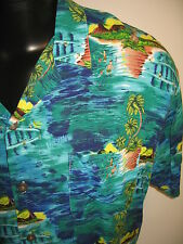 #5040 SHIRT BLOWOUT! PINEAPPLE CONN. CASUAL SS SHIRT MEN'S LARGE GOOD USED