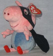 TY GEORGE SUPERHERO BEANIE BABY (UK EXCLUSIVE - PEPPA PIG) -  MINT TAGS