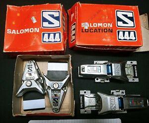 Salomon 444 Vintage Snow Ski Bindings Lot - Used Made in France
