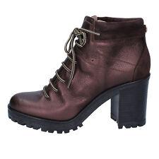 scarpe donna LIU JO 39 EU stivaletti t. moro pelle camoscio BY638-39