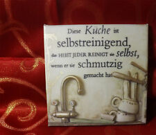 Dekofliese Wandbild Fliesenbild Bildfliese Küche Spruch (024DP) Handarbeit