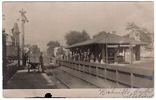 RPPC Railroad Station Depot - Rockville Centre NY 1905 Long Island Real Photo RR