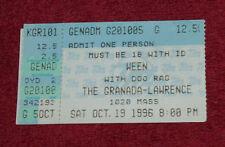 WEEN Ticket Stub Oct. 19 1996 Lawrence KS RARE Ticketmaster Doo Rag Ween