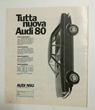 Pubblicità epoca 1972 AUTO AUDI 80 CAR old advertising werbung publicité reklame