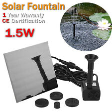 Solar Powered Fountain Water Pump Kit Floating Panel Pond Pool Outdoor Garden