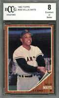 Willie Mays Card 1962 Topps #300 San Francisco Giants BGS BCCG 8