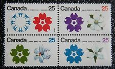 CANADA 1970 JAPAN EXPO - SE-Tenant Block of 4 - #508-511 - VFNH - Never Hinged