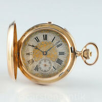 60mm 167g Minuten Repetition Chronograph 1890 18k Gold Taschenuhr Genfer Quali.