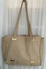 Authentic CELINE Logos Shoulder Tote Bag Purse - Beige Suede - Vintage Italy M94