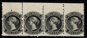 #8 strip of 4  Nova-Scotia Canada mint never hinged  well centered