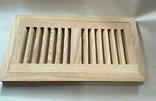 "4 x 10 Red Oak 3/4"" Flush Floor Vent / Register Unfinished  Made in USA"