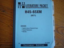Hyster H45 - 65XM Users Guide and Maintenance P/N 1458904 1/01 Forklift