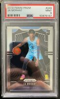 2019-20 PANINI PRIZM JA MORANT RC ROOKIE CARD #249 PSA 9 MINT BASE GRIZZLIES