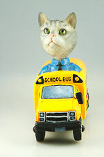 SCHOOL BUS SILVER TABY CAT SEE INTERCHANGABLE BODIES & BREEDS @ EBAY STORE