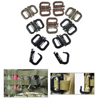 5x molle carabiner d locking ring plastic clip ring buckle carabiner keychai wr