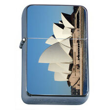 Famous Landmarks D3 Windproof Dual Flame Torch Lighter Sydney Opera House