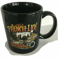 FRENCH LICK INDIANA HARLEY-DAVIDSON MOTORCYCLES BLACK COFFEE MUG CUP 2007 NEW