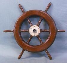 Vintage Ship's Wooden Steering Wheel