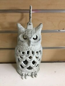 Cast Iron Owl Lantern Night Light Candle Patio Lamp Outdoor Wedding Garden Party