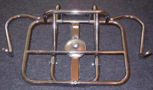 Vintage Vespa Lambretta chrome universal folding rear luggage rack for tire #31