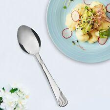Mainstays 4-Piece Swirl Stainless Steel Dinner Spoon Set, Silver Tableware