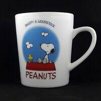 Peanuts Woodstock & Snoopy Vintage Coffee Ceramic Mug From Japan Charlie Brown